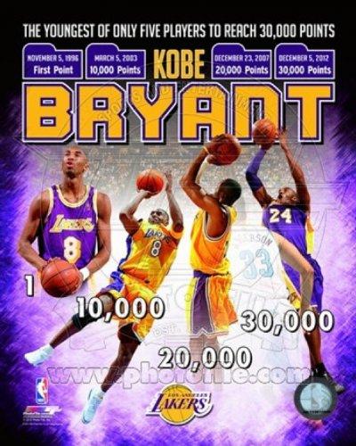 Kobe Bryant Jüngster Spieler in der NBA-Geschichte zu erreichen Photo Print (20,32 x 25,40 cm) (Nba-geschichte)