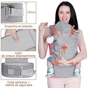 61zXd7pvlwL. SS300  - Lictin Mochilas portabebé Manos libres - Portabebés transpirable ergonómicamente diseñado Múltiples posiciones Se adapta…