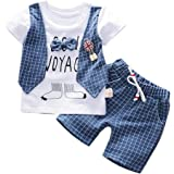 Daoope Bambino Abbigliamento Elegante Completo Ragazza Abbigliamento Bimbi Estate 18 Mesi T-Shirt Bambino Jeans Ragazzo Gentr