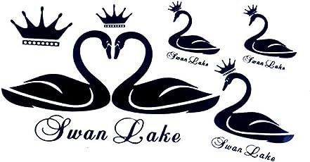 3D Temporary Tattoo Swan Design Size 10.5x6CM - 1PC.