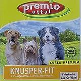 Premio Vital Knusper-Fit | Mais + Reis | Fleischanteil nur Geflügel | 15 kg Sack | Hunde Trockenfutter