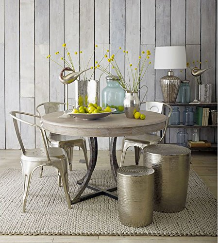 Artisanti Marrakech Embossed Metal Round Table - Small