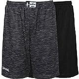 Spalding Street Reversible Shorts Herren, grau Melange/Schwarz, L
