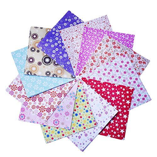 144 Blätter Handwerk Falten Origami Papier Washi Falten Papier 6 mal 6 Zoll, 12 Verschiedene Farben und Muster (Kraft Origami-papier)