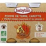 Babybio - Petits Pots, Veau Et Légumes, Dès 8 Mois, Certifié AB - (Prix Par Unité ) - Produit Bio Agrée Par AB