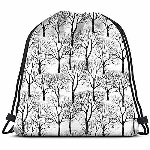 khgkhgfkgfk Tree Without Leaves Isolated on White Nature Drawstring Backpack Gym Sack Lightweight Bag Water Resistant Gym Backpack for Women&Men for Sports,Travelling,Hiking,Camping,Shopping Yoga -