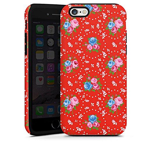 Apple iPhone 5 Housse étui coque protection Fleurs Fleurs Vieille école Cas Tough terne