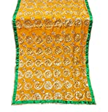 PEEGLI 1 Pc Indische Vintage Traditionelle Gelbe Dupion