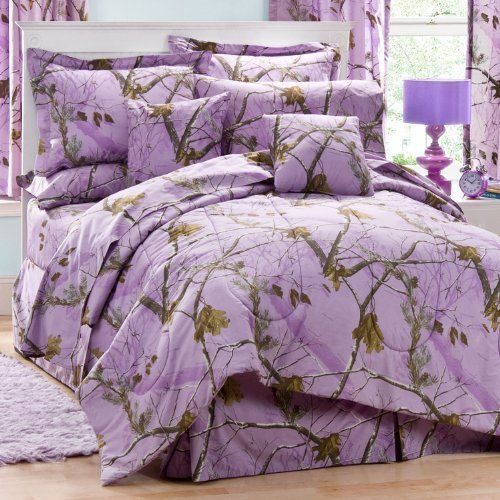 Realtree AP Lavendel Queen Tröster Set