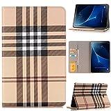 Galaxy Tab A 10.1 Hülle, TechCode® Bookstyle Wallet Card Slot PU Leder Tasche Hülle für Samsung Galaxy Tab A 10.1 SM-T580N / SM-T585N (TabA10.1, Gelb-A03)