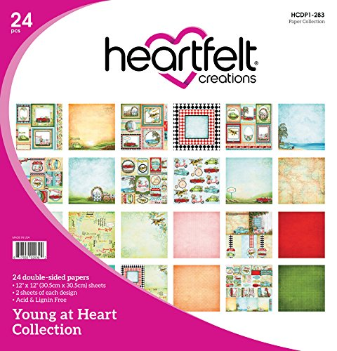 Heartfelt Creations Double Face Papier Pad 24/Prodige/2 Chaque, 30,5 x 30,5 cm