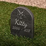 Pet Gravestone personalised with name and motif personalised 8