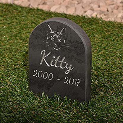 Pet Gravestone personalised with name and motif personalised 2