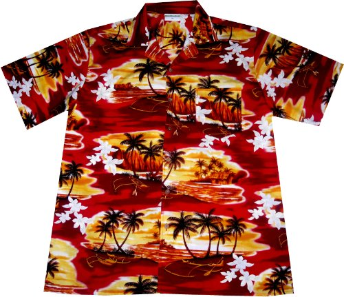 Hawaiian-Shirt-Sunset-in-Paradise-100-cotton-size-M--3XL