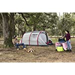 Pavillo Unisex's BW68077 Sierra Ridge Air Inflatable 4-Man Tunnel Tent Measures L4.85m x 2.79m x H2m, Grey, 4 Person 56