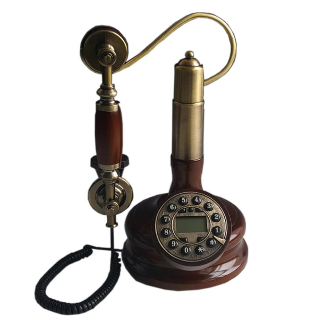 ZXZ-GO Stile Europeo Crafts Retro solido legno antico Hook Up Formula Phone