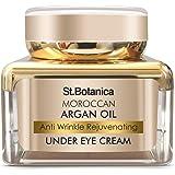 StBotanica Moroccan Argan Oil Anti Wrinkle Rejuvenating Under Eye Cream, 30g - Fights Skin Aging, Fine Lines and Dark…