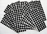 Adsamm® | 3000 x almohadillas de fieltro | Ø 20 mm | negro | redondo | Protectores de suelo para patas de mueble | auto-adhesivos | con grosor de 3,5