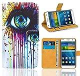 Huawei Ascend G7 Handy Tasche, FoneExpert® Wallet Case Flip Cover Hüllen Etui Ledertasche Lederhülle Premium Schutzhülle für Huawei Ascend G7 (Pattern 10)