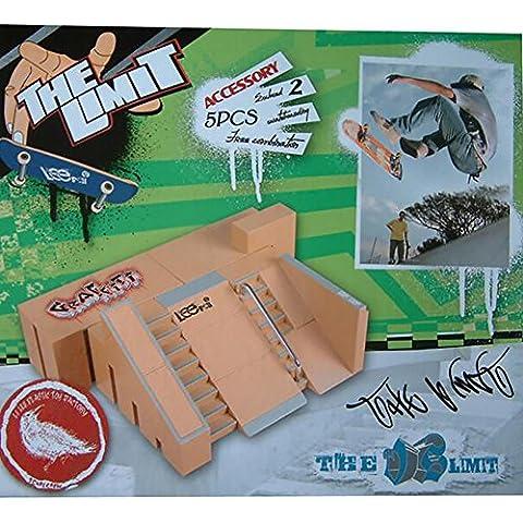 WayIn® 5pcs Skatepark Kit Rampa Parti per Tech Deck Tastiera Mini pattino della barretta Fingerboards di Ultimate Parchi