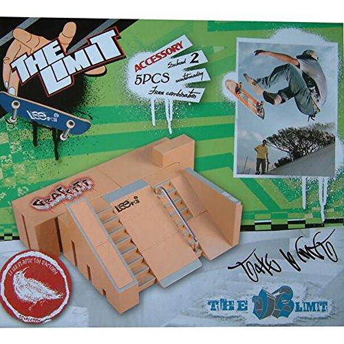 WayIn® 5pcs Kit Skatepark Pièces de rampe pour Tech Deck Fingerboard Mini Finger Skateboard Fingerboards Ultime Parcs
