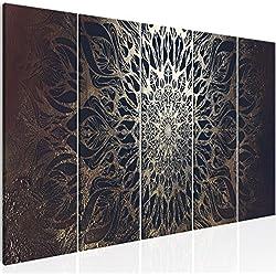 murando - Cuadro Mandala 200x80 cm - impresión de 5 Piezas - Material Tejido no Tejido - impresión artística - Imagen gráfica - Decoracion de Pared - Oriente p-A-0028-b-n