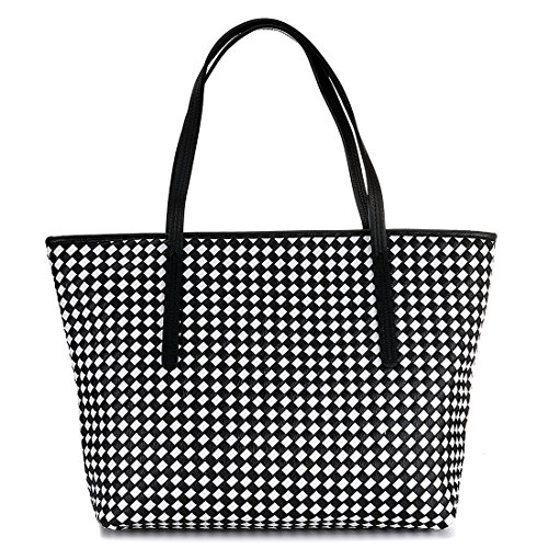 SSMK Large Handbag, Borsa a mano donna Black and White