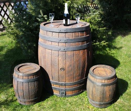 Brandneu Regentonne Fass, 240 Liter, holzoptik FH64