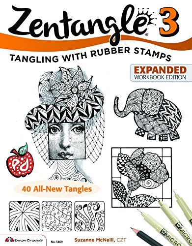 Zentangle 3: Tangling With Rubber Stamps Expanded Workbook Edition by Suzanne McNeill CZT (2014-03-01)