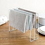 Einfacher Handtuchhalter aus Eisen, Handtuchständer, Regal für Küche, Bad, Aufbewahrung für Socken, Tücher, Geschirr-, Reinigungstuch, Trockenständer, Organizer aus Edelstahl, multifunktional, praktisch