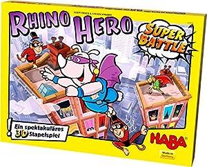 HABA 302808-Juego de construcción Rhino Hero- Super Battle