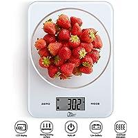 Uten Balance de Cuisine Numérique, 8kg/17.6lb Maximum, Balance Alimentaire Électronique avec Plate-Forme en Verre Trempé, Écran LCD Digital Rétroéclairé, Haute Précision, Pure
