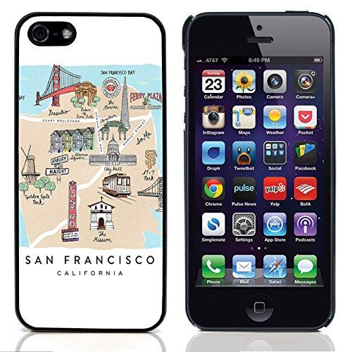Graphic4You San Francisco Golden Bridge Postkarte Ansichtskarte Design Harte Hülle Case Tasche Schutzhülle für Apple iPhone 5 und 5S Design #5