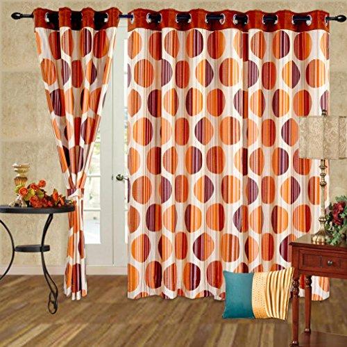 Cortina Punto Window Curtain-45 Inch Width x 60 Inch Height (2pc)