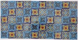 Piastrelle ceramiche dipinte a mano d epoca foto royalty free