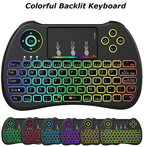 [Updated] 2 4GHz Colorful Backlit Wireless Mini USB Keyboard and Mouse with  Touc