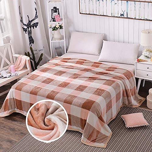 YUMUO Flanell Sommer Decke, Ultra-weich Velvet Twin Size Die Ganze Saison Leicht,Falten-resistente Decke Für Zuhause Schlafzimmer-w 150 * 200cm 2kg