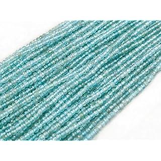 Beads Ok, DIY, Apatit, Aqua Farbe, Echte, Natürlichen, 3mm, Schmuckperlen, Perle Rund Kugel Elegante Facettiert, über 39cm EIN STR. Apatite, Aqua Colour, Genuine, Natural, Elegant Faceted Round Bead