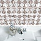 JY ART Wand-Aufkleber Küche Deko Badezimmer-Gestaltung - Küchen-Fliesen überkleben - Dekorative Bad-Gestaltung - Fliesen-Aufkleber TS045, 15cm*15cm