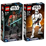 Lego Star Wars 2er Set Baubare Figuren 75114 75116 First Order Stormtrooper + Finn