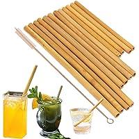 pailles en bambou biologique. réutilisable Bambous pailles Alternative au Plastique enfants pailles. Lot de 12…