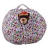 LY-LD Kindergestecke Bean Tasche Stuhl Plush High Kapazität Leinwand-Material für die Aufbewahrung von Plüschspielzeug, Kleidung, Handtücher,D,26inch