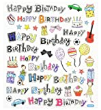 3452346 Happy Birthday Stickers