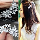 #8: Flower Rhinestone Crystal Hair Clip