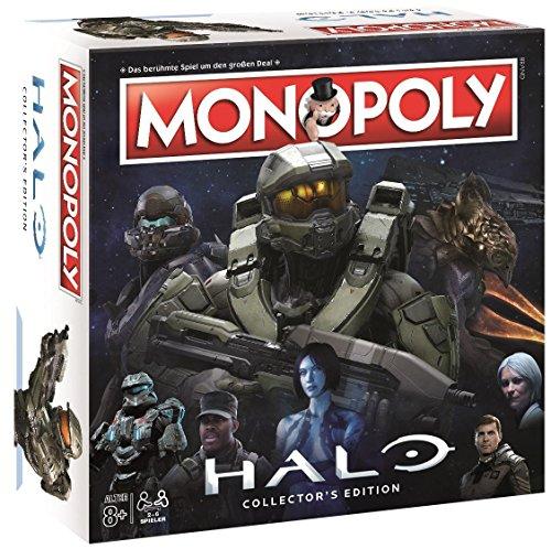 Winning Moves Monopoly Halo - der Ego-Shooter trifft auf Das bekannte und Beliebte Brettspiel! Gesellschaftsspiel, Familienspiel, Strategiespiel