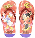 Minnie Girl's Red Flip-Flops-6 Kids UK/India (23 EU) (MMPGFF0266)
