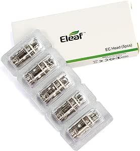 Eleaf Verdampferkopf Spulen EC-Kopf für iJust 2 / Melo 3 / Melo 3 mini (5 Packungen) (0.5ohm)