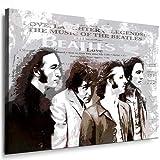 Leinwandbild Beatles - Lennon Bild 100x70cm! k. Poster. Bild fertig auf Keilrahmen ! Pop Art Gemälde Kunstdrucke, Wandbilder - Bilder zur Dekoration - Deko. Musik Stars Kunstdrucke