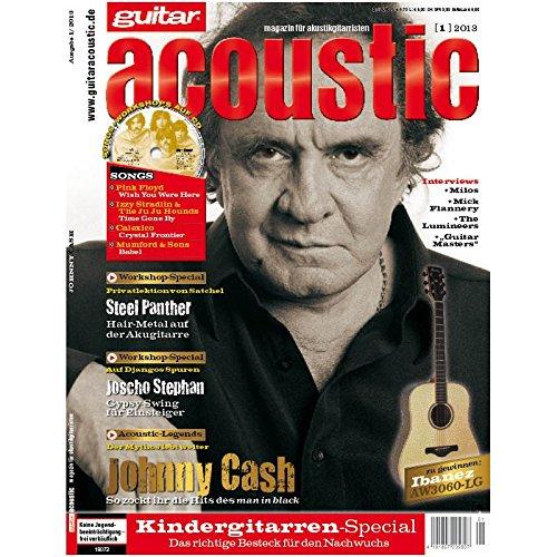guitar acoustic 1 2013 mit CD - Johnny Cash - Interviews - Akustikgitarre Workshops - Akustikgitarre Playalongs - Akustikgitarre Test und Technik - Akustikgitarre Noten
