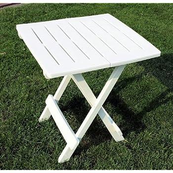 campingtisch beistelltisch 43x45x50cm weiss klappbar kunststoff klapptisch. Black Bedroom Furniture Sets. Home Design Ideas